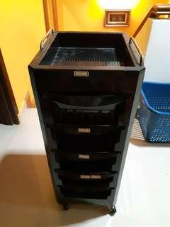 Plastic utility/storage tier tray - with rollers type 1