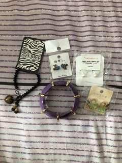 🚚 Korean Earrings, Bracelet & Bangles