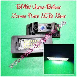 2pcs Ultra-Bright BMW LED License Plate Error-Free 6500K Crystal White Lamp Replacement Light Modules E82 E39 E60 E61 E70 E72 E90 E91 E92 F10 F30