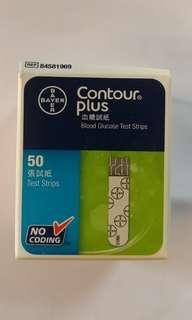 全新 拜安進 Contour plus 血糖試紙 50張 bayer blood glucose test strips