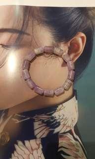 🚚 天然紫水晶圓筒狀手串