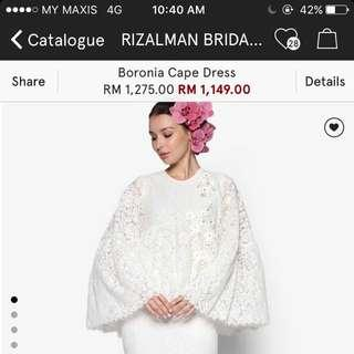 Rizalman Boronia Cape Dress