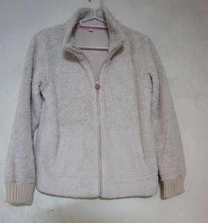 Uniqlo Cream Fleece Jacket