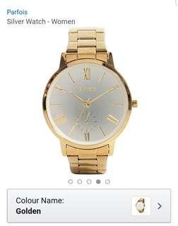 Parfois Gold Watch