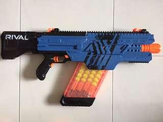 USED Nerf Rival Khaos MXVI-4000 blaster (Blue) 40x High-Impact Rounds toy gun hasbro TRU 100FPS / 30 MPS