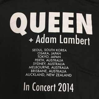 Queen Adam Lambert Tour Japan tshirt Vintage Rare