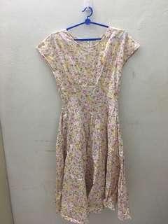 Vintage Pink Floral Dress