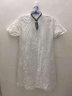 Vintage floral white dress