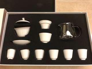 Tea Set茗茶花茶白瓷套裝禮盒杯