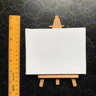 Art Acrylic Canvas & Wooden Easel