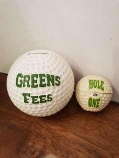 Golf Ball Saving Bank and Container