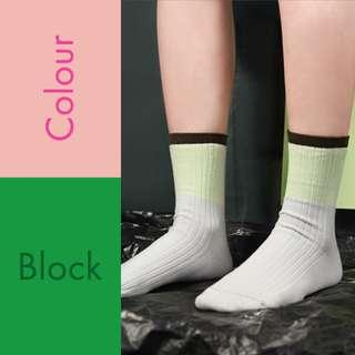 🚚 The Simple Color Blocking Socks