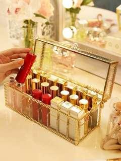 Lipstick cosmetic storage organizer, up to 24 lipsticks