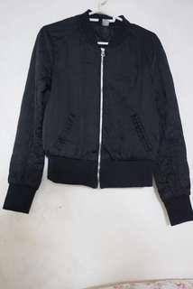 H&M divided black bomber jacket