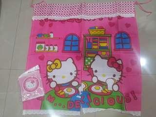 Kitty door curtain