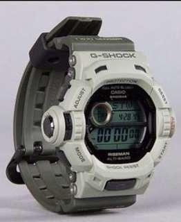 Casio G-Shock Solar Men in Military RISEMAN Watch G-9200ER-3, G9200ER frogman limited kpop
