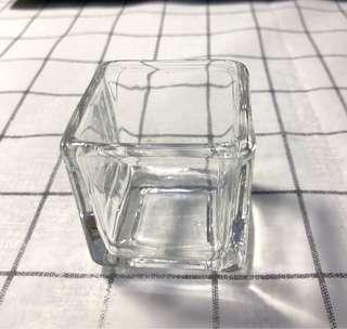 🚚 《二手-加購區》透明玻璃小蠟燭檯