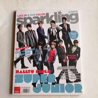 Sparkling Magazine Super Junior x Infinite Cover