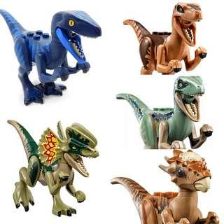 Lego Dinosaurs from Lego Movie 2 or Jurassic World series