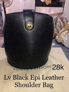 Lv Black Epi Leather Cluny Shoulder