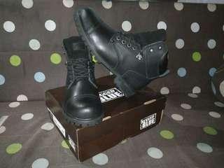Rugged Blue Original steel Toe Work Boots