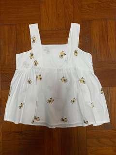 Floral babydoll top