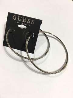 Guess metallic hoop earrings