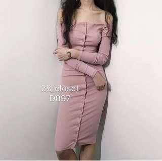 Pink Buttoned Down Dress
