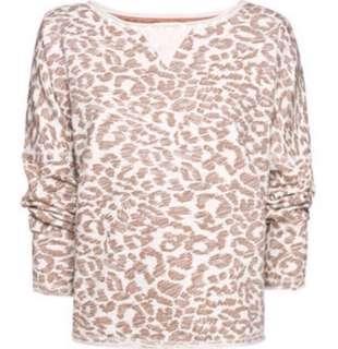 Mango Animal Print Sweatshirt
