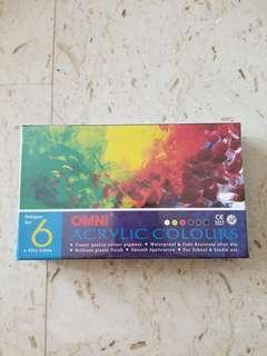 Acrylic Colours Omni 6 × 45cc tubes