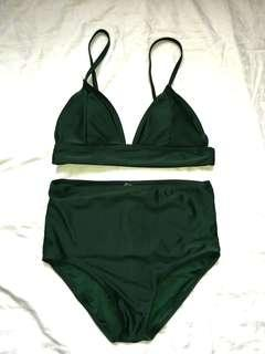 Cocobliss 2 piece swimsuit emerald green - free sf w/in MM