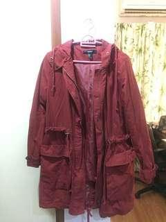 🆕 Forever 21 Red Parka Coat #PRECNY60