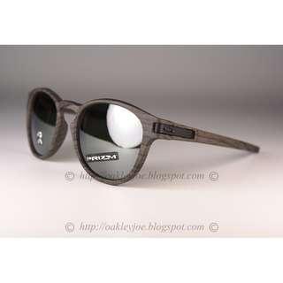 bfb4c4517f BNIB Oakley Latch woodgrain + prizm black polarized OO9265-3853 sunglass  shades