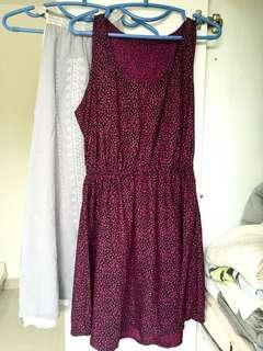 連身裙2條 one piece dress x2