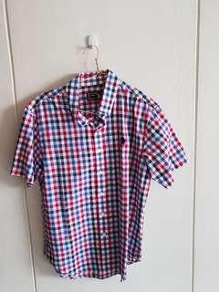 Checkered red top (red blue white)