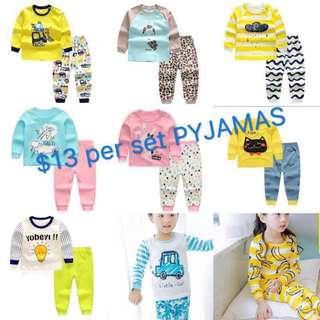 [CNY promo] Baby/kid Pyjamas 2pcs Set