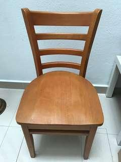 Wooden dining chairs - set of 4