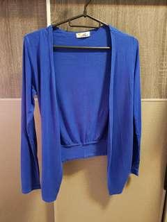 Clearance***Blue Cardigan