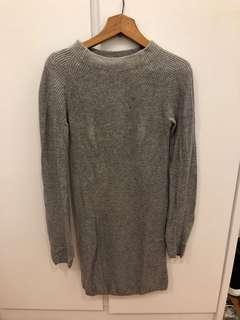 Zara 灰色冷裙 grey knit dress