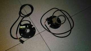 Pedal assist sensor cables