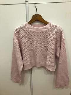 Zara 淺粉紅色冷衫 baby pink sweater