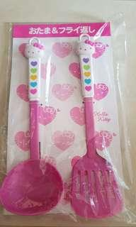 Hello kitty soup and frying ladle