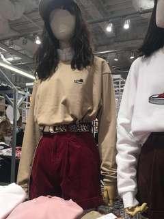 🚚 WEGO khaki converse oversized pullover