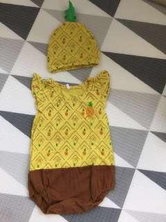 🚚 PL baby pineapple romper w matching hat (12-18 months)