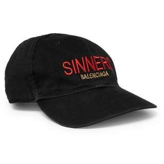 6325dc85dfa3a Balenciaga Sinners Baseball Cap (101% Authentic)
