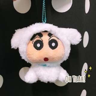 :::OH YEAH!:::『現貨』日本直送 打扮成小白的小新吊飾鑰匙圈 角色扮演系列 蠟筆小新小白生日禮物交換禮物畢業