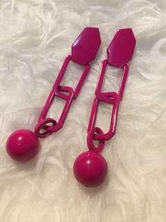 Anting pink gemes