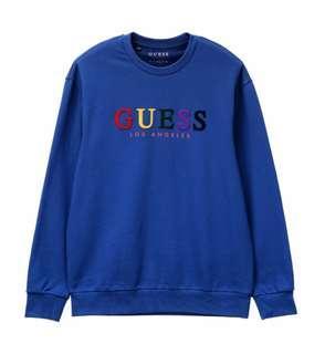 Korea Guess Unisex Sweatshirt/Pull Over MI3K7422 NWT (Blue/Mustard/Grey/Turquois)