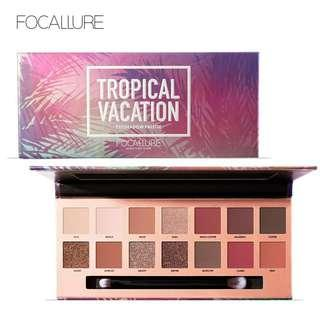 FOCALLURE 14 Colors Matte Glitter Shimmer Tropical Vacation Eyeshadow!!