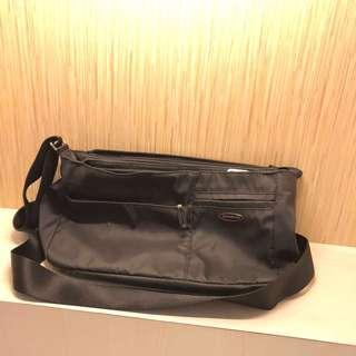 Samsonite Black Unisex Bag Sling Bag Tas Selempang Hitam